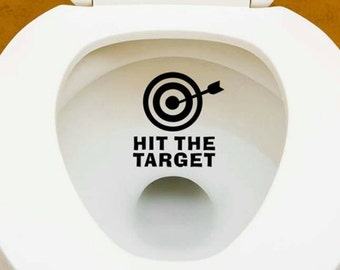 Toilet target Decal, Toilet bulls eye, Potty Training Aiming Sticker, Bulls Eye Target, Toilet Target Sticker, Toilet Aiming Sticker