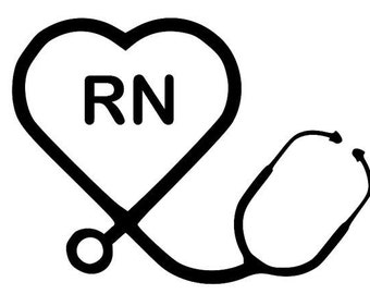 RN Decal, rn decal Yeti, RTIC tumblers, RN wine glass decal, rn car decal, rn window decal, rn vinyl decal, rn decal