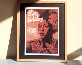 Billie Holiday Live at The Lenox Lounge - A3 gicleé print