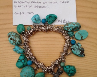 Item 13071. Bracelet with Turquoise Charms