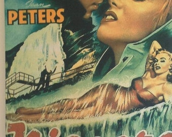 Vintage film poster Niagara on canvas