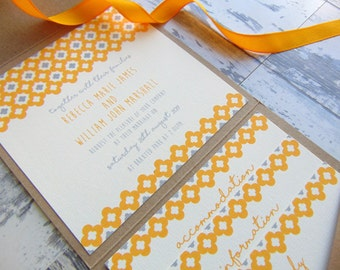 RHIANNON wedding invitation with inserts *SAMPLE*