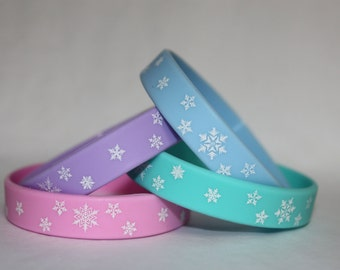 12 Frozen Party Favor Bracelets