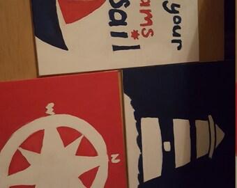 Nautical canvas set