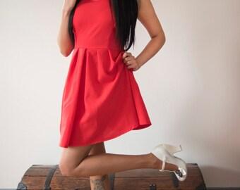 burlington red pin up dress