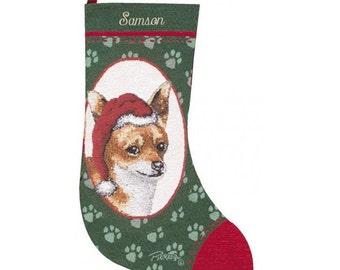 Chihuahua Dog Personalized Christmas Stocking