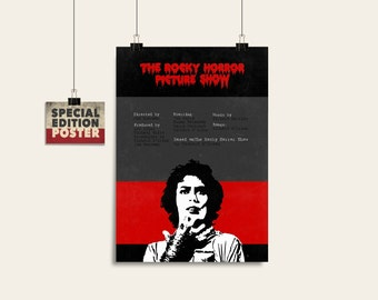 The Rocky Horror Picture Show Movie poster Movie art Film art Printable art Digital poster Wall decor Minimalist poster Wall art