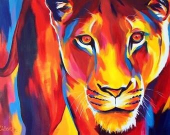 Lioness - Giclee print