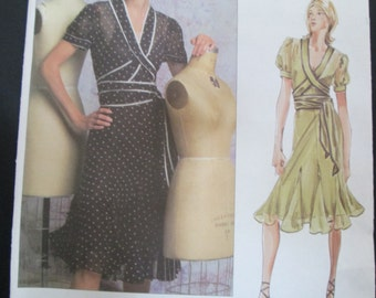 New Uncut Vogue American Designer Donna Karen Sewing Pattern 2784 Womans, Misses, Size 12 14 16, Dress and Slip, Out of Print 2003 OOP