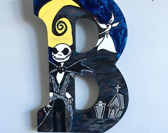 The Nightmare Before Christmas wooden letter