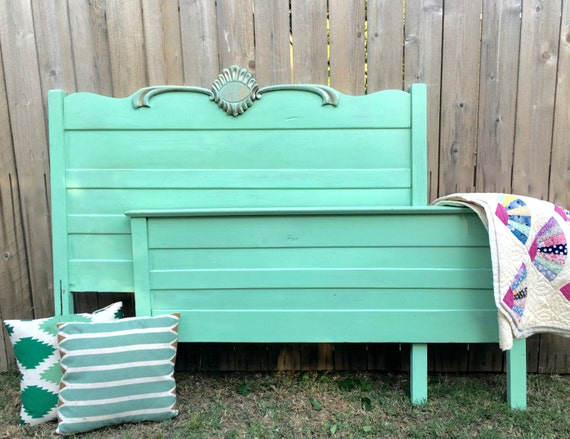 Antique full size headboard footboard for Full size footboard