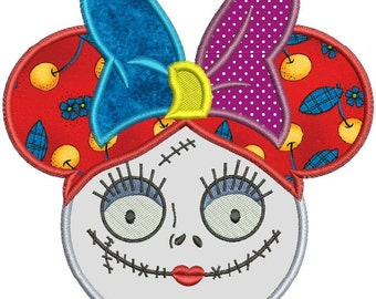 Sally Nightmare Before Christmas Applique Machine Embroidery Design 3 sizes instant download