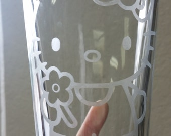 Hello Kitty Inspired Pint Glass
