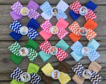 Disney Princess Bows / Set of 12 / Princess Bows / Disney Bows