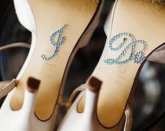 I Do Rhinestone Shoe Stickers for Brides, Wedding Shoes Sticker, Bridal Details, Something Blue | BABY BLUE