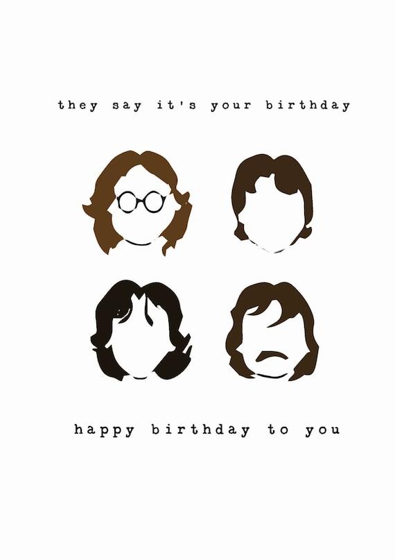 Beatles Birthday Card – Beatles Birthday Cards