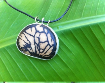 """Pendant """"A drop of Tagua"""" (vegetable ivory), 925 Silver"""