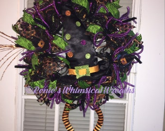 Whimsical Witch Wreath