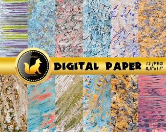 Pastel Paint Scrapbook Paper,Abstract Paint Texture,Paint Digital Paper,Paint Splash Background,paper,digital paper,Rainbow Background