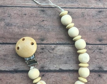 Natural Wood Pacifier Clip
