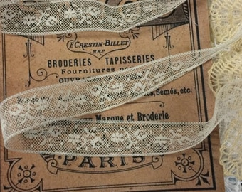Vintage French Fine Cotton Valenciennes Lace ~  White ... LA5579  - Dentelle Valenciennes