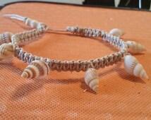 12 inch mini conch shell bracelet