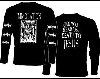 Longsleeve IMMOLATION   [s-m-l-xl-xxl] Incantation Morbid Angel Dead Congregation Suffocation Ulcerate Gorguts Ignivomous Autopsy Disma