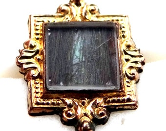 Civil War Era Hairwork Mourning Lapel Buttonhole Stud