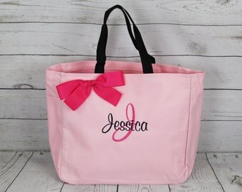 10 Personalized Bridesmaid Tote Bags- Wedding Party Gift- Bridal Party Gift-