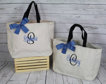 Personalized Cheer Dance Beach Bridesmaid Gift Tote Bag- Wedding Party Gift- Bridal Party Gift- Initial Tote- Mother of the Bride Gift