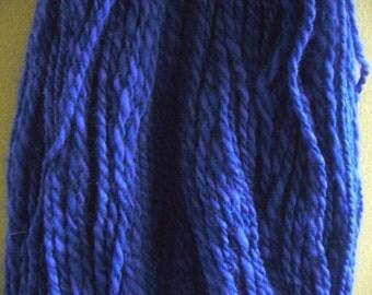 Handspun Yarn-Merino wool yarn, DK weight, Indigo - 1 yarns  - 357 yards