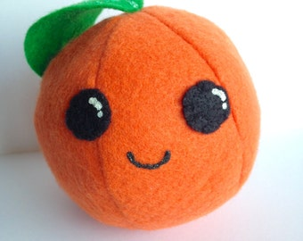 Orange Plush / Kawaii Plush / Play Food / Kids / Stuffed Animal / Fruit / Pretend Play / Toy / Gift / Pincushion