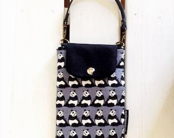 Smartphone case - Panda grey (made to order)