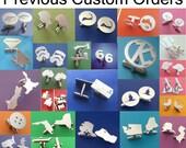 Custom Sterling Cufflinks RESERVED