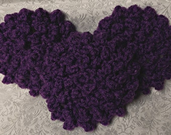 Hand Crocheted Dark Purple Face Scrubbies - Set of 3