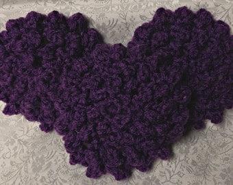 Hand Crocheted Dark Purple Face Scrubbies - Set of 3