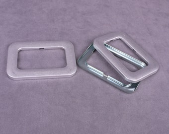 Large Covered Buckles with 52mm Center - 1 Pair (MK51SBB-2)