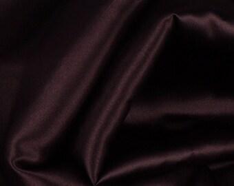 """Brown Satin Fabric - 54"""" Wide - 1 7/8 Yard (PV-984)"""