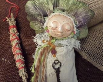 ARTIST SALE, Spice Comfort doll, Ethnic Art, ooak Art Doll, collectible keepsake, kitchen witch
