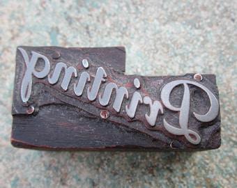 Printing Vintage Letterpress Printers Block