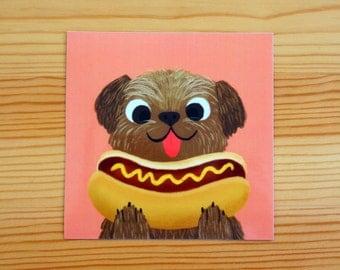 Hot Dogs Vinyl Sticker