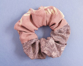 Japanese Kimono fabric scrunchie Lavender