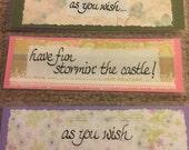 Bookmark - Princess Bride quotes