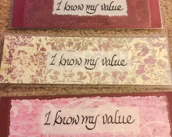 Bookmark - I know my value