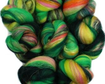 Utopia - mini batts (2 oz) superwash superfine merino wool and silk and sparkle -- Literary Series