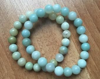 Beautiful Pale Green Amazonite Bracelet