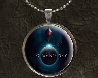 No Mans Sky Pendant with 24 inch Ball Chain Necklace