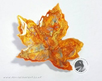Sycamore Leaf Brooch, Sycamore Leaf Pin, Autumn Leaf Brooch, Fall Leaf Pin, Leaf Jewellery In Gift Box