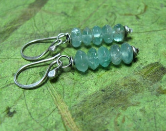 Trickle - Apatite and Sterling Silver Earrings