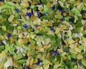Destash Glass Frit Blend Orchid Splendor Bead Goodies COE 96 Green Violet Yellow Ocher 0.5oz Bag